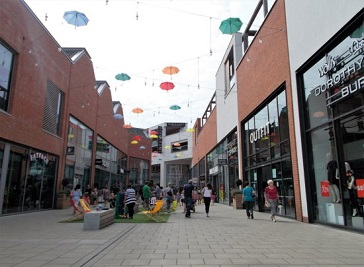 Old Market Shopping Centre in Hereford